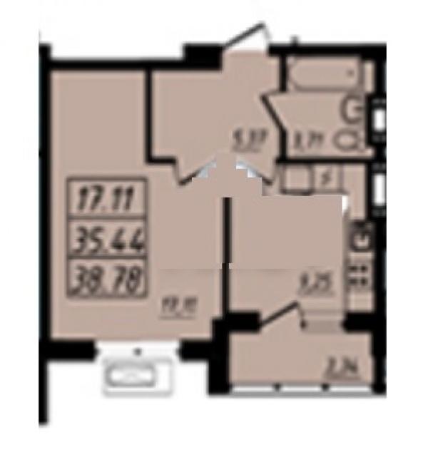 Планировки трехкомнатных квартир 74.78 м^2